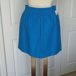 J Crew blue mini skirt